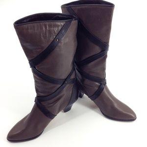 Vintage HOGL Austria Grey & Black Tall Boots
